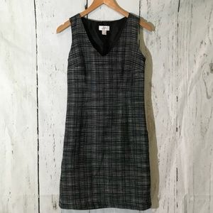 Loft V-neck Dark Gray Work Dress